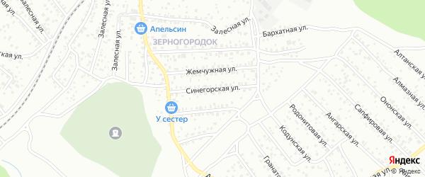 Синегорская улица на карте Улан-Удэ с номерами домов
