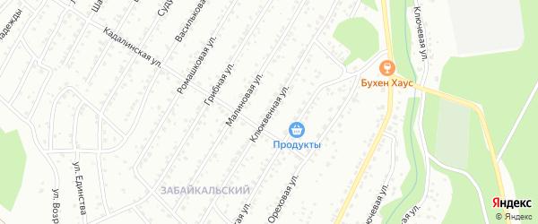 Клюквенная улица на карте Улан-Удэ с номерами домов