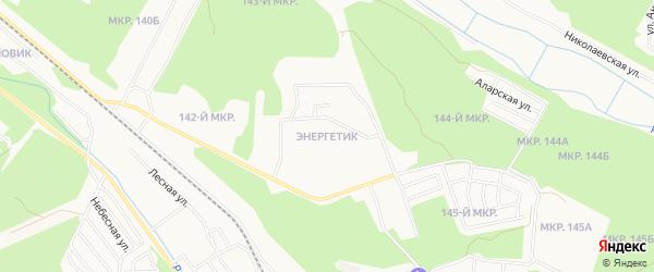 Карта микрорайона Энергетика города Улан-Удэ в Бурятии с улицами и номерами домов