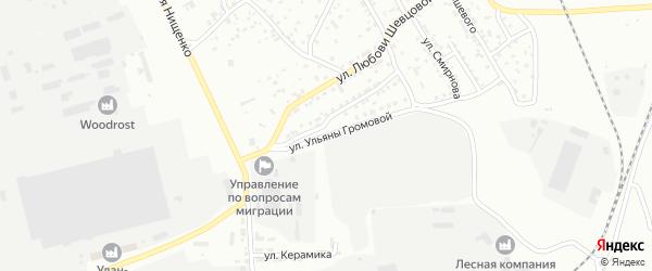 Улица У.Громовой на карте Улан-Удэ с номерами домов