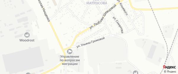 Улица Парижской Коммуны на карте Улан-Удэ с номерами домов