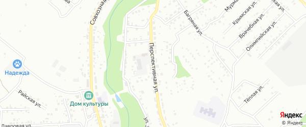 Перспективная улица на карте Улан-Удэ с номерами домов