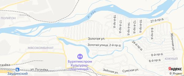 Территория CНТ Металлист на карте Улан-Удэ с номерами домов