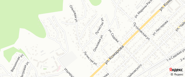 Лучистая улица на карте Улан-Удэ с номерами домов