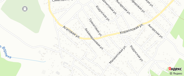 Аквамариновая улица на карте Улан-Удэ с номерами домов