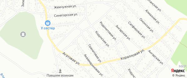Аметистовая улица на карте Улан-Удэ с номерами домов