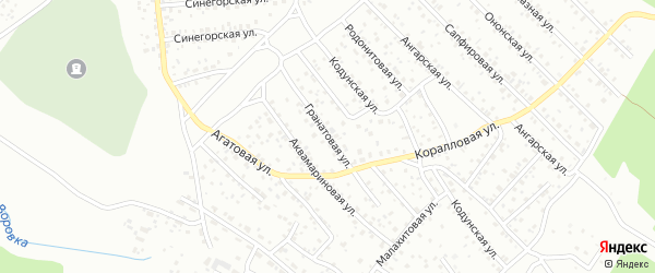 Гранатовая улица на карте Улан-Удэ с номерами домов