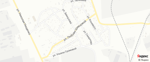 Улица Любови Шевцовой на карте Улан-Удэ с номерами домов