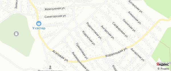 Кодунская улица на карте Улан-Удэ с номерами домов