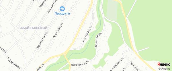 Ключевая улица на карте Улан-Удэ с номерами домов