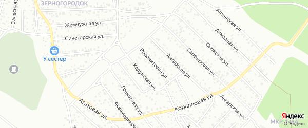 Родонитовая улица на карте Улан-Удэ с номерами домов