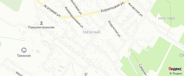 Малахитовая улица на карте Улан-Удэ с номерами домов
