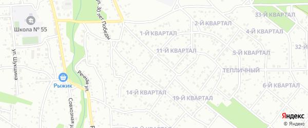 Теплая улица на карте Забайкальского микрорайона с номерами домов