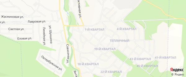 Карта Забайкальского микрорайона города Улан-Удэ в Бурятии с улицами и номерами домов