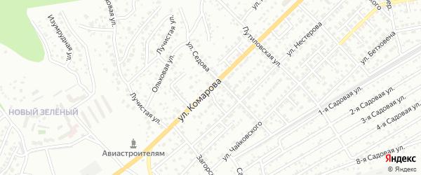 Улица Комарова на карте Улан-Удэ с номерами домов