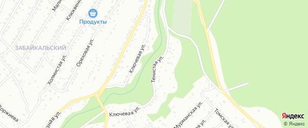 Тенистая улица на карте Улан-Удэ с номерами домов