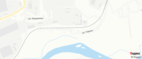 Улица Гавань на карте Улан-Удэ с номерами домов