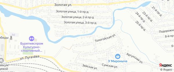 Улица Тологойский на карте Улан-Удэ с номерами домов