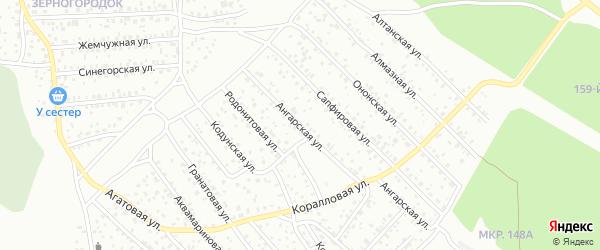 Ангарская улица на карте Улан-Удэ с номерами домов