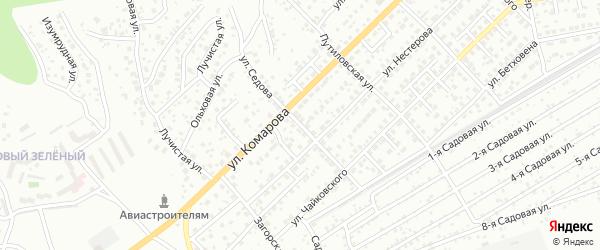 Улица Седова на карте Улан-Удэ с номерами домов