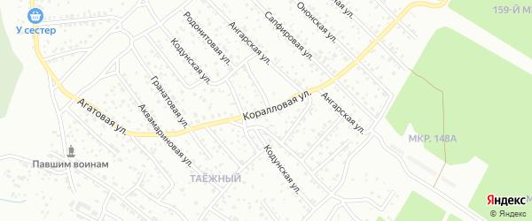 Коралловая улица на карте Улан-Удэ с номерами домов
