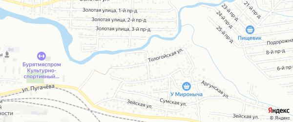 Тологойская улица на карте Улан-Удэ с номерами домов