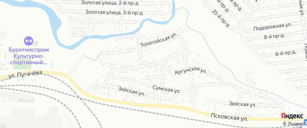 Аргунская улица на карте Улан-Удэ с номерами домов