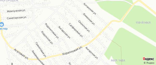 Сапфировая улица на карте Улан-Удэ с номерами домов