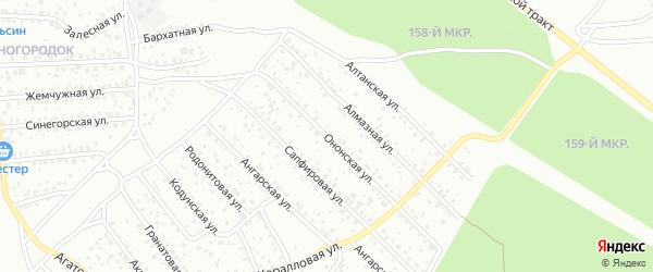 Ононская улица на карте Улан-Удэ с номерами домов