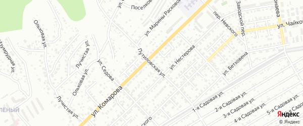 Путиловская улица на карте территории ДНТ Лотоса с номерами домов