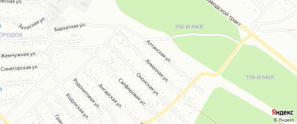 Алмазная улица на карте Улан-Удэ с номерами домов