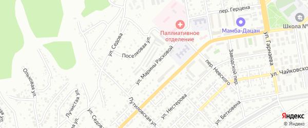 Улица М.Расковой на карте Улан-Удэ с номерами домов