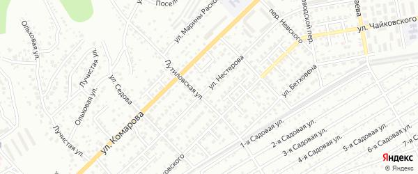 Улица Нестерова на карте Улан-Удэ с номерами домов