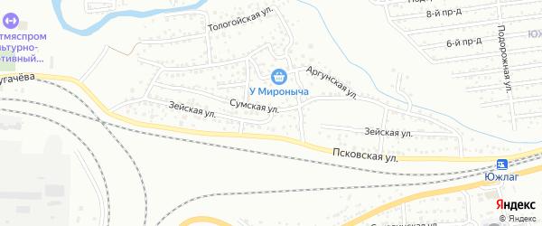 Зейская улица на карте Улан-Удэ с номерами домов