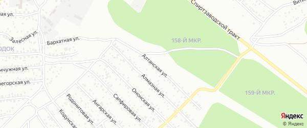 Алтанская улица на карте Улан-Удэ с номерами домов