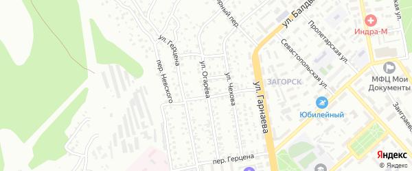 Улица Огарева на карте Улан-Удэ с номерами домов