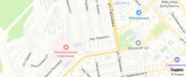Переулок Герцена на карте Улан-Удэ с номерами домов