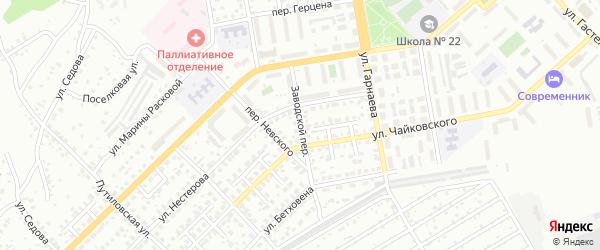 Заводской переулок на карте Улан-Удэ с номерами домов