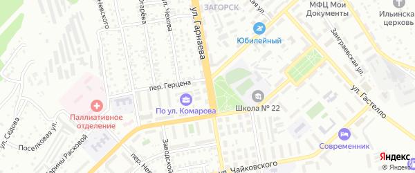 Улица Гарнаева на карте Улан-Удэ с номерами домов