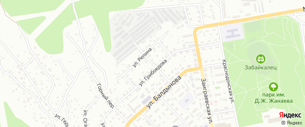 Лесной переулок на карте Улан-Удэ с номерами домов