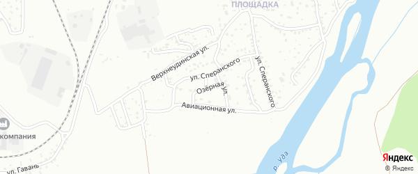 Озерная улица на карте Улан-Удэ с номерами домов