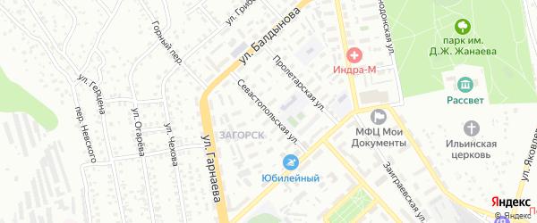 Севастопольская улица на карте Улан-Удэ с номерами домов