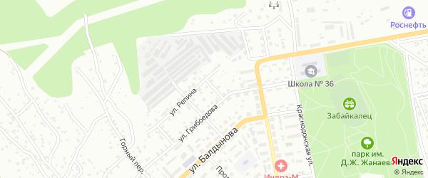 Переулок Грибоедова на карте Улан-Удэ с номерами домов