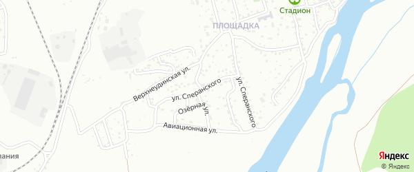 Улица Сперанского на карте Улан-Удэ с номерами домов