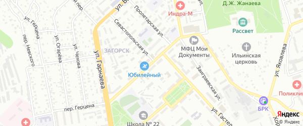 Столичная улица на карте Улан-Удэ с номерами домов