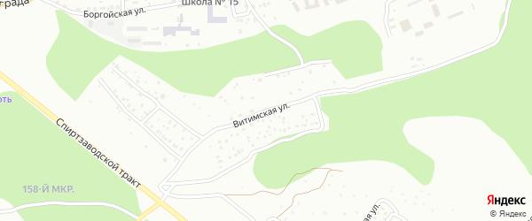 Витимская улица на карте Улан-Удэ с номерами домов