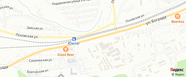 Улица Бограда на карте Улан-Удэ с номерами домов