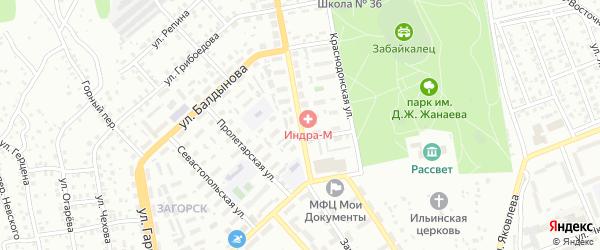 Заиграевская улица на карте Улан-Удэ с номерами домов