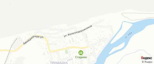 Улица Железнодорожников на карте Улан-Удэ с номерами домов