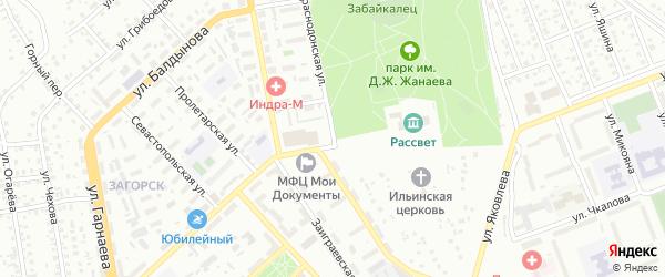 Краснодонская улица на карте Улан-Удэ с номерами домов